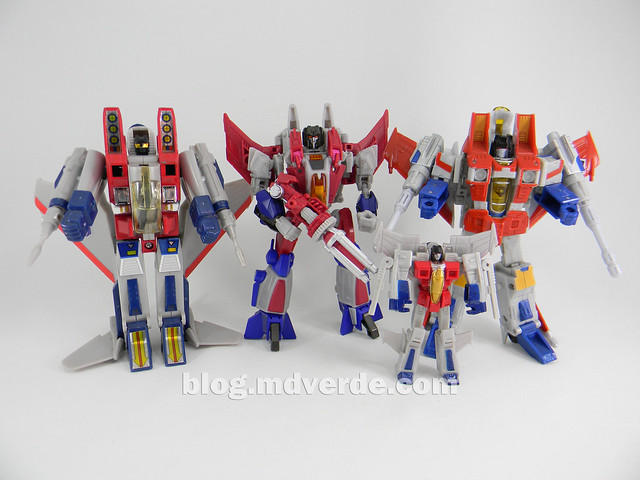 Transformers Starscream Deluxe - Generations Fall of Cybertron - modo robot vs otros Starscream