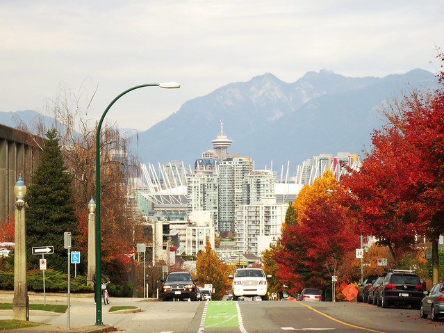 Autumnal Vancouver from Yukon St