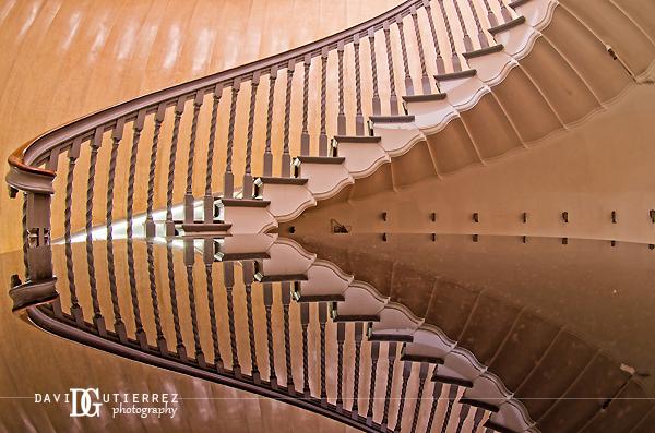 London Spiral Reflection Photography