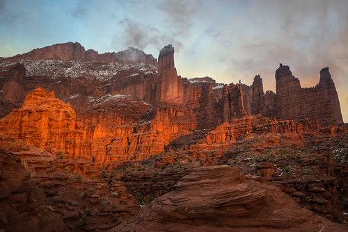 sunset utah fishertowers