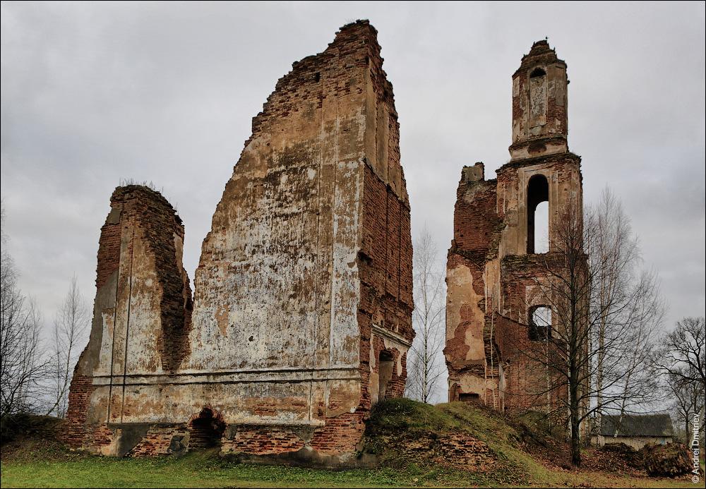 Губино, руины костела св. Антония