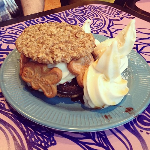 Dennis's dessert! #vegan #positivitea
