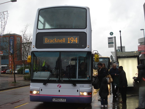 First Beeline 33180 on Route 194, Camberley Station