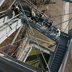 Climbing the lookout tower in Gettysburg