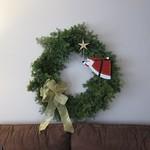 Freshly hung wreath