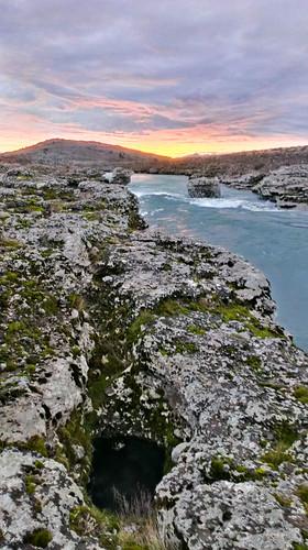 blue sunset nature stone river landscape hole cave gora rubble montenegro podgorica cijevna crna
