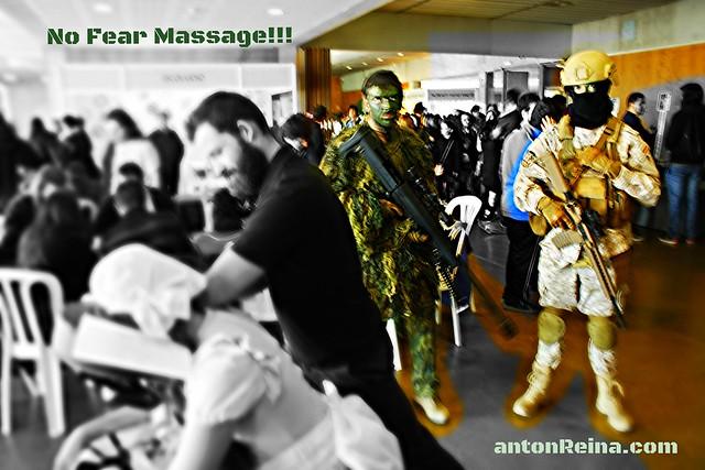 ¿Masaje sentado amenazado o asegurado en el Murcia Remanga 2013?