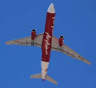 AirAsia X's Airbus A330-343X, 9M-XXC, taking off from Sydney Airport