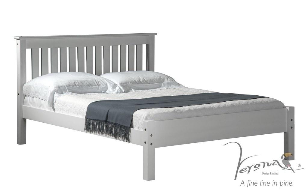 Shaker Bed Frame Whitewash - BDFRSHAN3000WWW