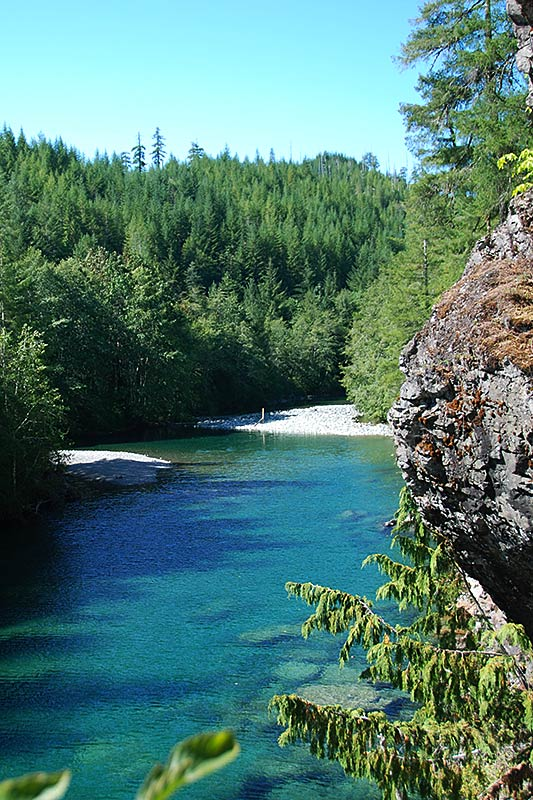 Taylor River at Taylor River Rest Area, Pacific Rim Highway 4, Vancouver Island, British Columbia