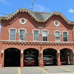 Historic 1873 Peabody Central Fire Station in Peabody, Massachusetts.  The fire station was listed on the National Register of Historic Places in 1979 (NRHP District # 79000344).