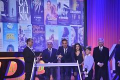 Oriol Tarragó, David Calleja i els fills d'en Licio Marcos de Oliveira. Premi Gaudí al Millor so per
