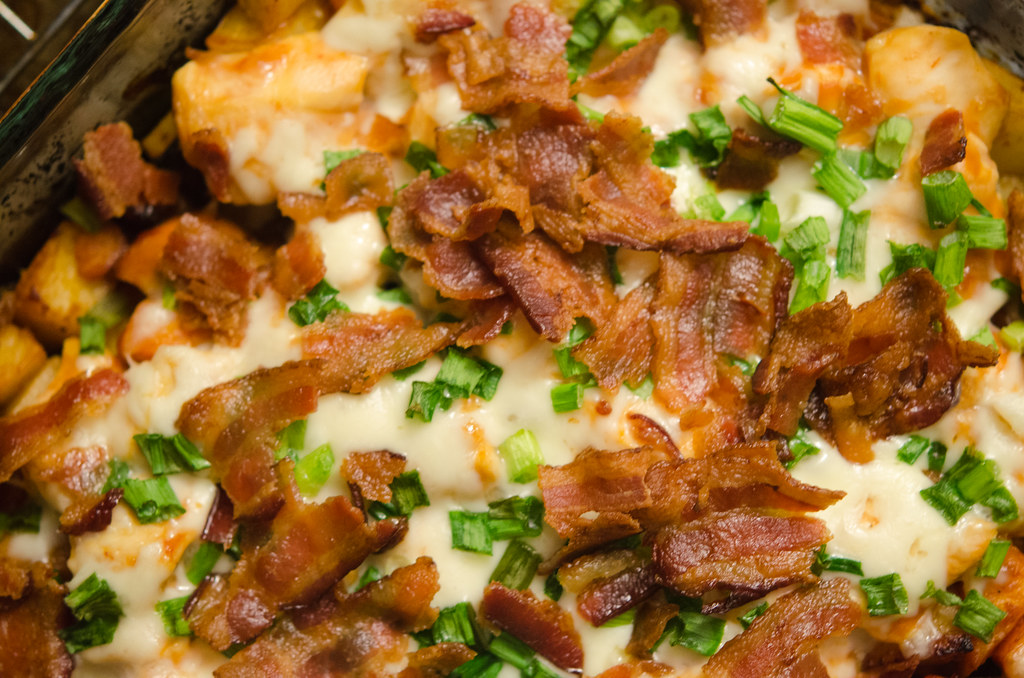 loaded potato chicken casserole
