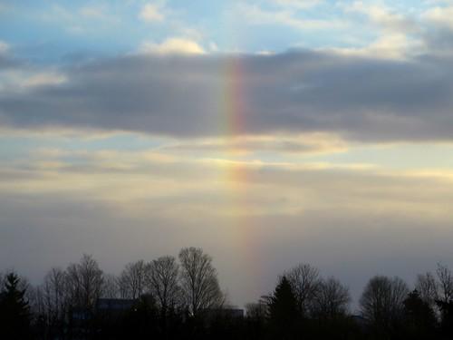 clouds sunrise rainbow onondagahillny onondagany