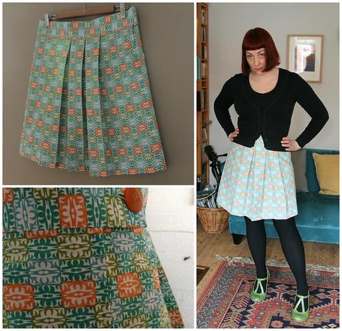 Lazy Seamstress: Box pleats and pattern matching.