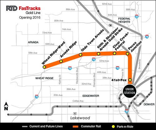 2014 Map of Gold Line