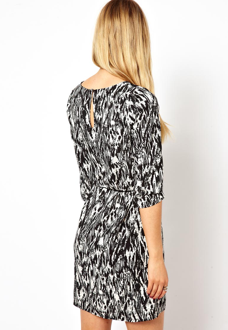 Vila Mono Print Shift Dress