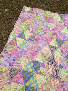 Watercolor Triangle Quilt