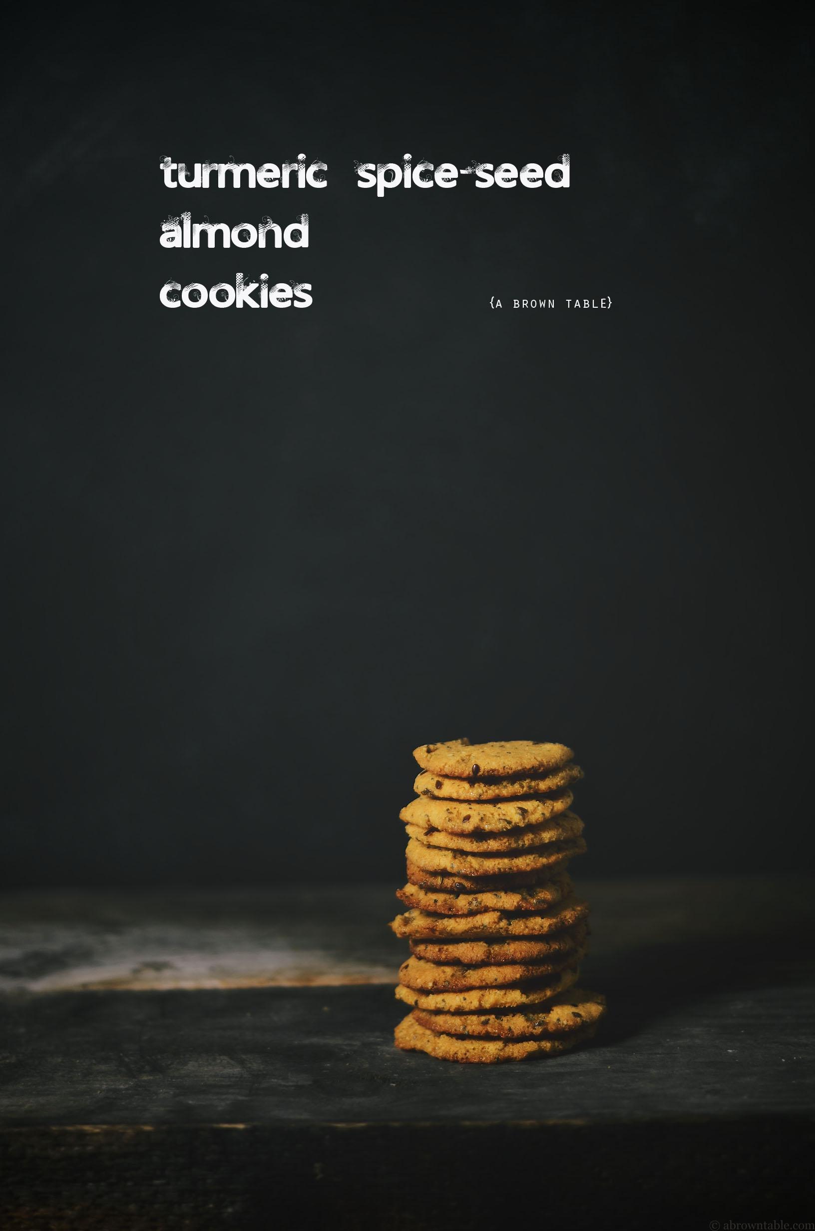 turmeric spice seed almond cookies gf