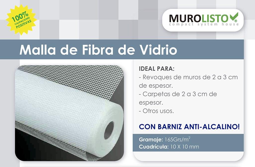 Malla de fibra de vidrio en rollo 10x10mm 165grs m2 for Malla de fibra de vidrio
