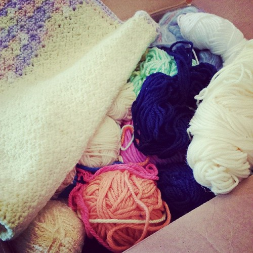 More #yarn and #crochet goodness, this time from Sarah in Houston. Thank you Sarah! #TheLinusConnection #blanketcharity