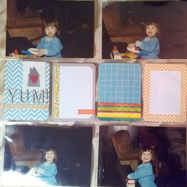 Document something you have loved since a kid - Scrapbooking layout of me at two cooking