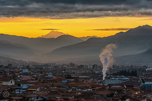 old city morning mountain inca cusco ausangate