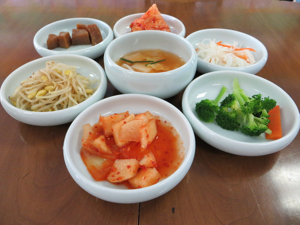 Banchan at Jeon Ju Korean Restaurant