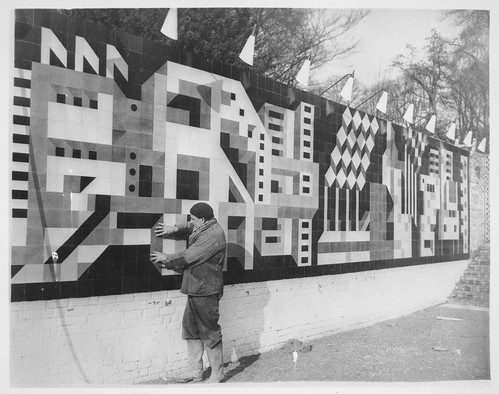 tile mural for Brussels World Fair, 1958