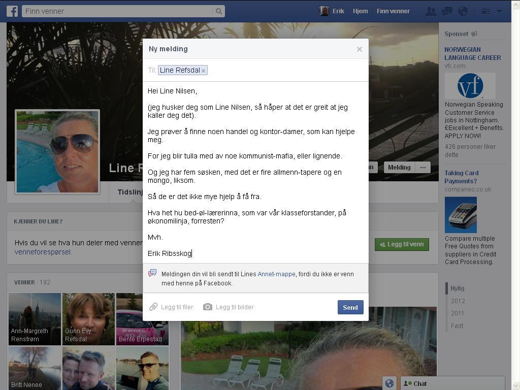 line nilsen facebook