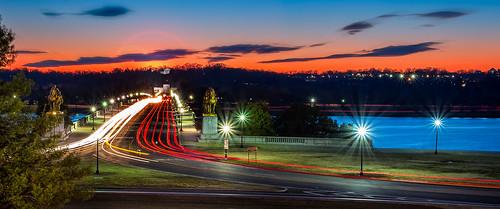 longexposure sunset washingtondc washington twilight districtofcolumbia unitedstates dusk lensflare arlingtonnationalcemetery memorialbridge potomacriver starburst arlingtonhouse roberteleememorial leofriedlander