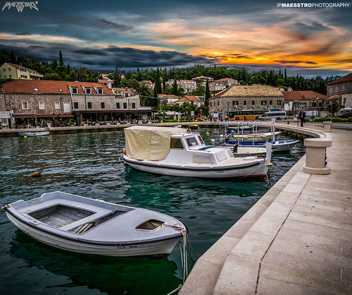 sunset sea sunrise landscape boat sommer croatia cavtat hdr waterscape ipmaesstro