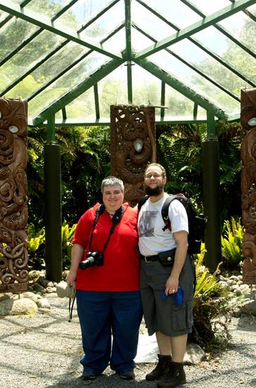 Us at Te Whare Taonga closer - Pukeiti 22 1 15 K54811
