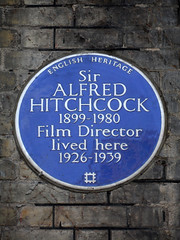 Photo of Alfred Hitchcock blue plaque