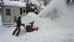 outdoor power equipment, footwear, snow, snow blower, winter storm,