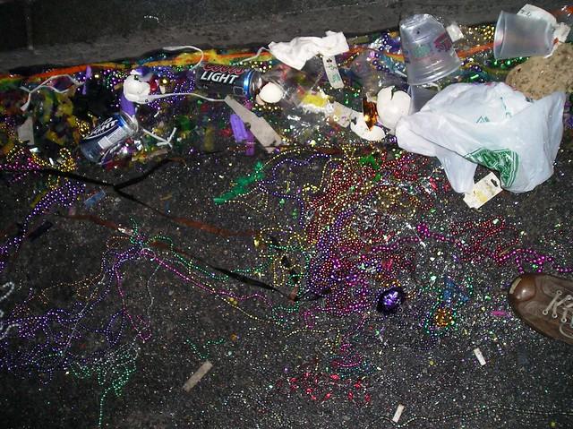 Trash, Gutter, French Quarter, Mardi Gras night - Flickr ...