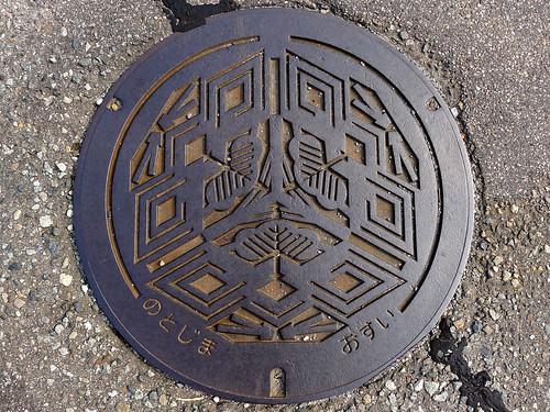 Notojima Ishikawa, manhole cover 2 (石川県能登島町のマンホール2)