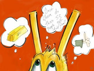 Fiddy Fwee the gold eared stylus bunny.... ipad mini, Paper app and Pencil.
