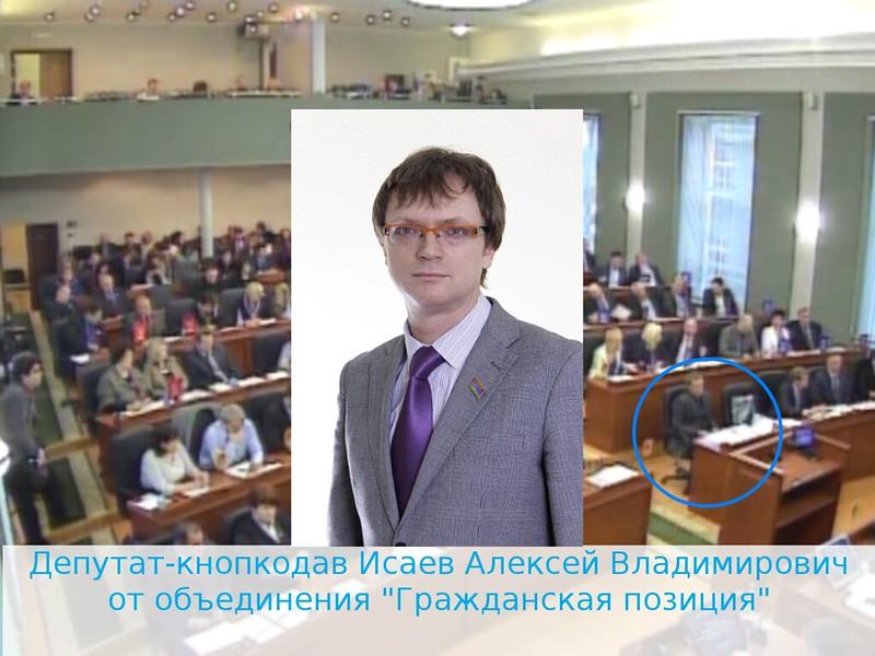 Депутат-кнопкодав Исаев Алексей Владимирович