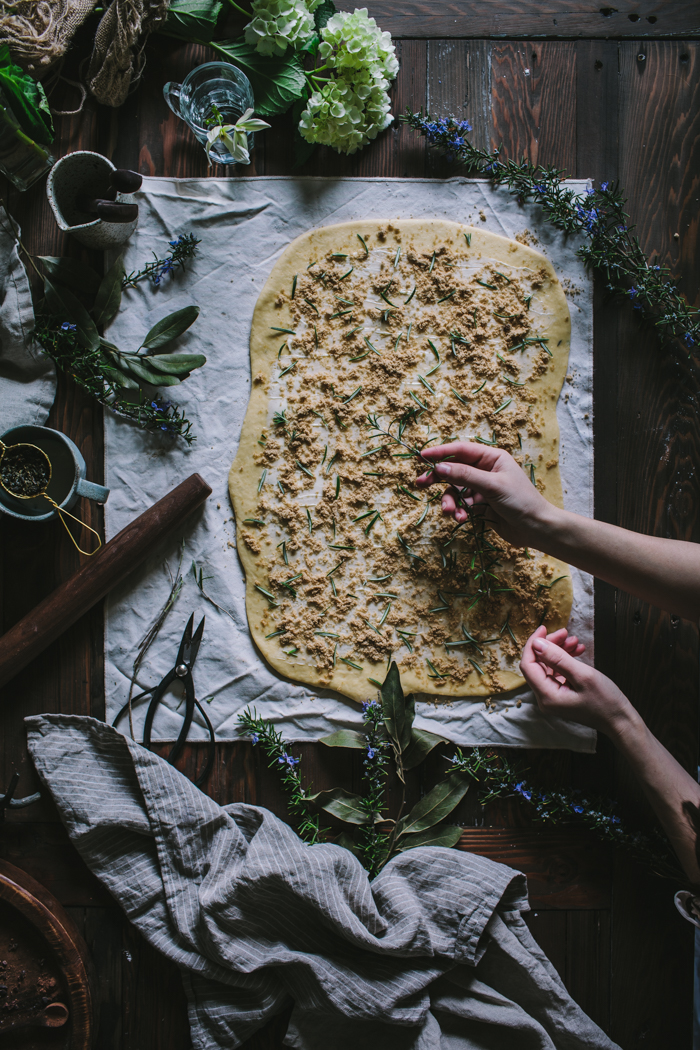 Rosemary Jasmine Buns With A Whiskey Glaze by Eva Kosmas Flores | Adventures in Cooking