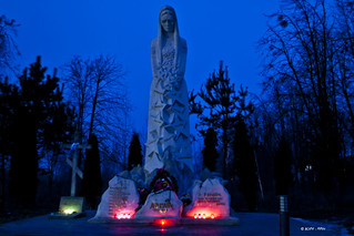 The monument to soldiers from Dubno, who had been killed in Afghanistan