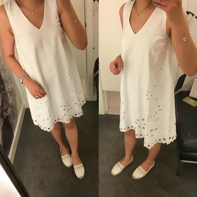 Ann Taylor Floral Cut Trapeze Dress, size XXSP