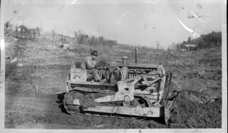 Clearing land at Camp Long, 1938