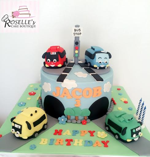 Cute Birthday Cake by Roselle Ang of Roselle's Cake Boutique