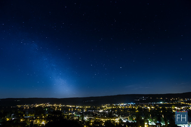 Milkyway on top of Stein am Rhein - Switzerland