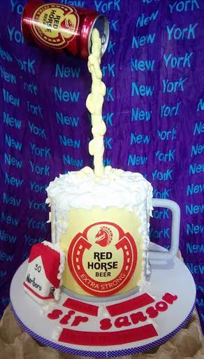 Red Horse Beer Themed Cake of Sugar Belle by Suzanne Tan Dionio