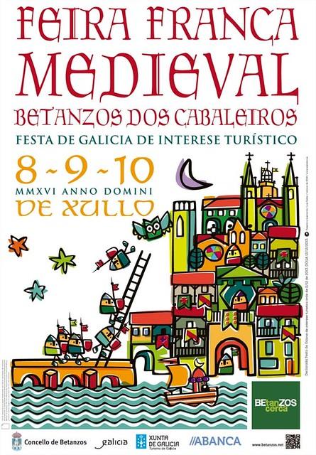 Betanzos 2016 - Feira Franca Medieval - cartel