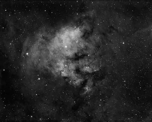 NGC7822 Ha 7nm - 3 hours data by Mick Hyde