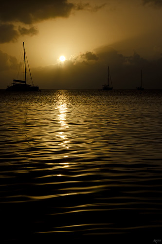 light sunset cloud clouds boats boat waves harbour wave tropical caribbean wavy guadeloupe
