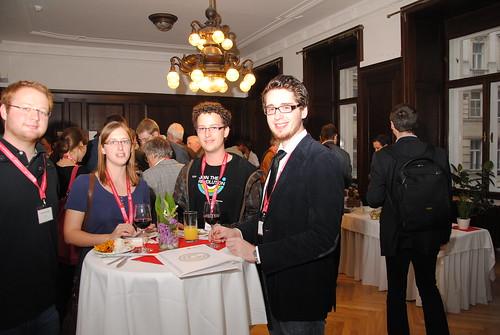 VertreterInnen des OCG Student's Clubs im Heinz Zemanek Saal